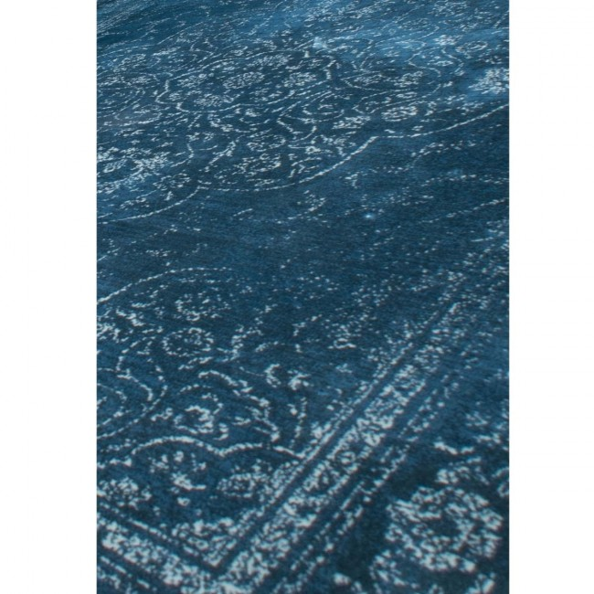 Tapis vintage Rugged bleu detail