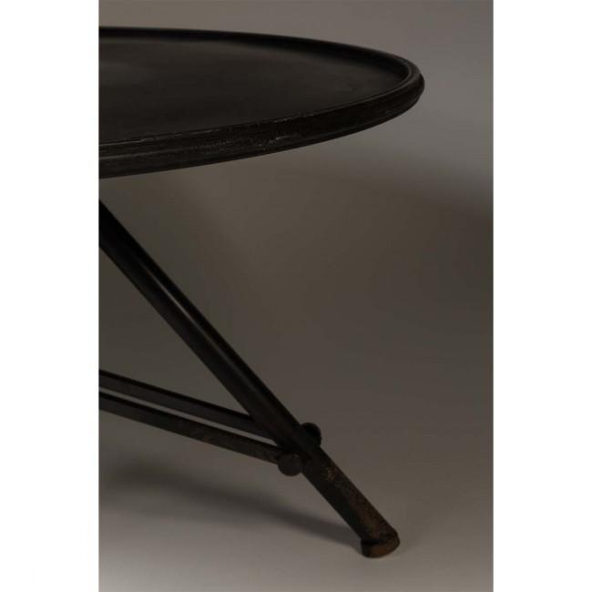Table basse métal ronde indus Brok