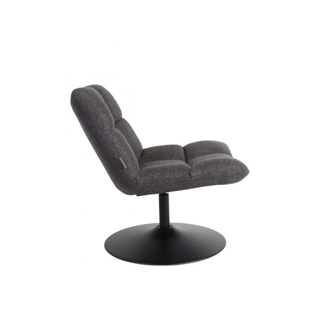 Fauteuil tissu pivotant Lounge de profil