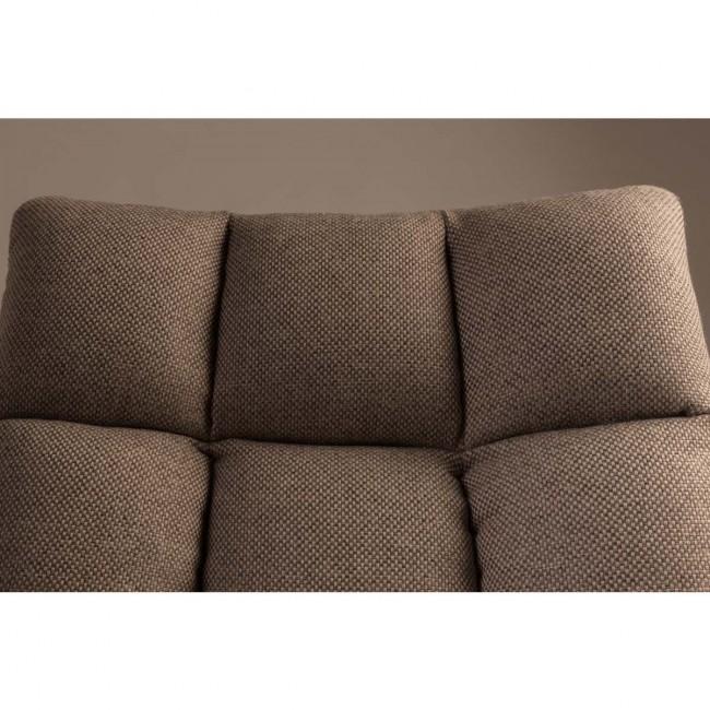 Fauteuil tissu pivotant Lounge beige detail dossier