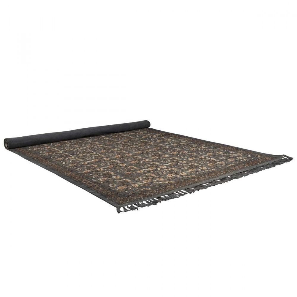 tapis oriental indian block gris par drawer. Black Bedroom Furniture Sets. Home Design Ideas