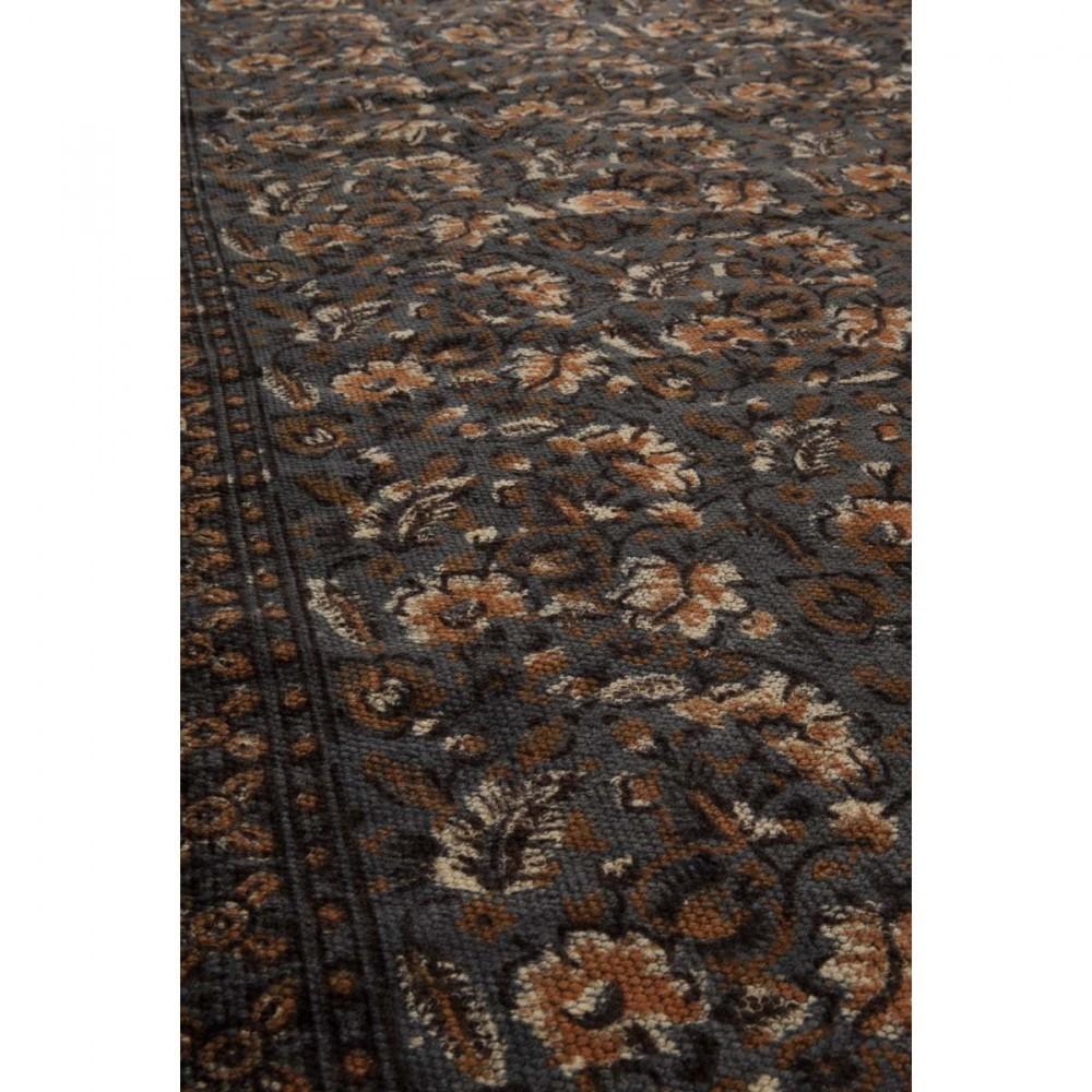 Tapis oriental Indian Block gris par Drawer