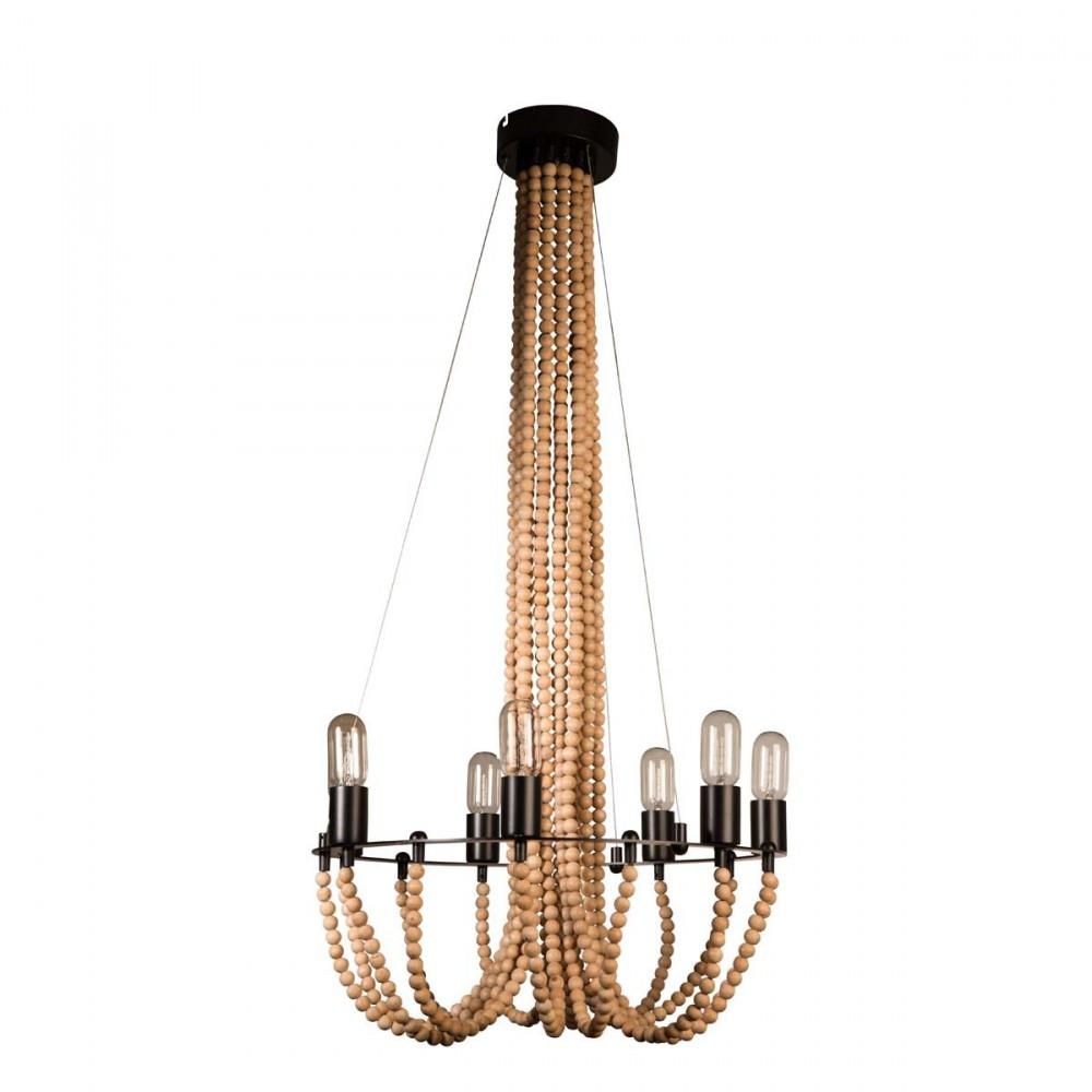 suspension vintage en perles de bois beads par. Black Bedroom Furniture Sets. Home Design Ideas
