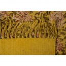 Tapis Indian Block jaune detail tissu