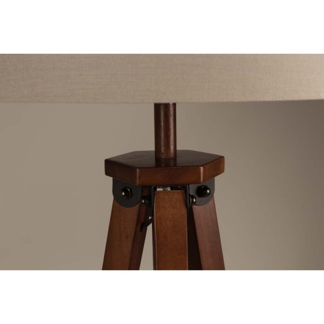 Lampadaire bois et coton Rif base