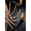 Suspension vintage en perles de bois Beads