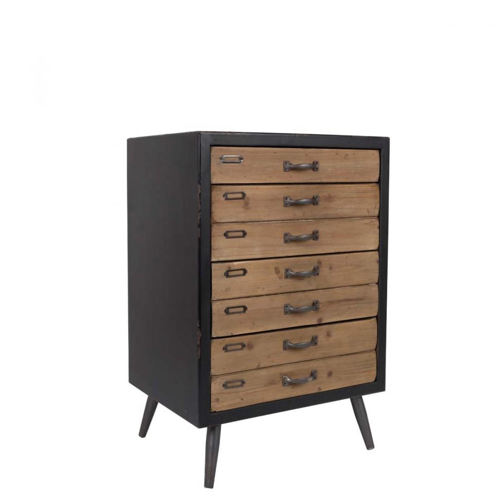 commode vintage 4 tiroirs sol l par. Black Bedroom Furniture Sets. Home Design Ideas