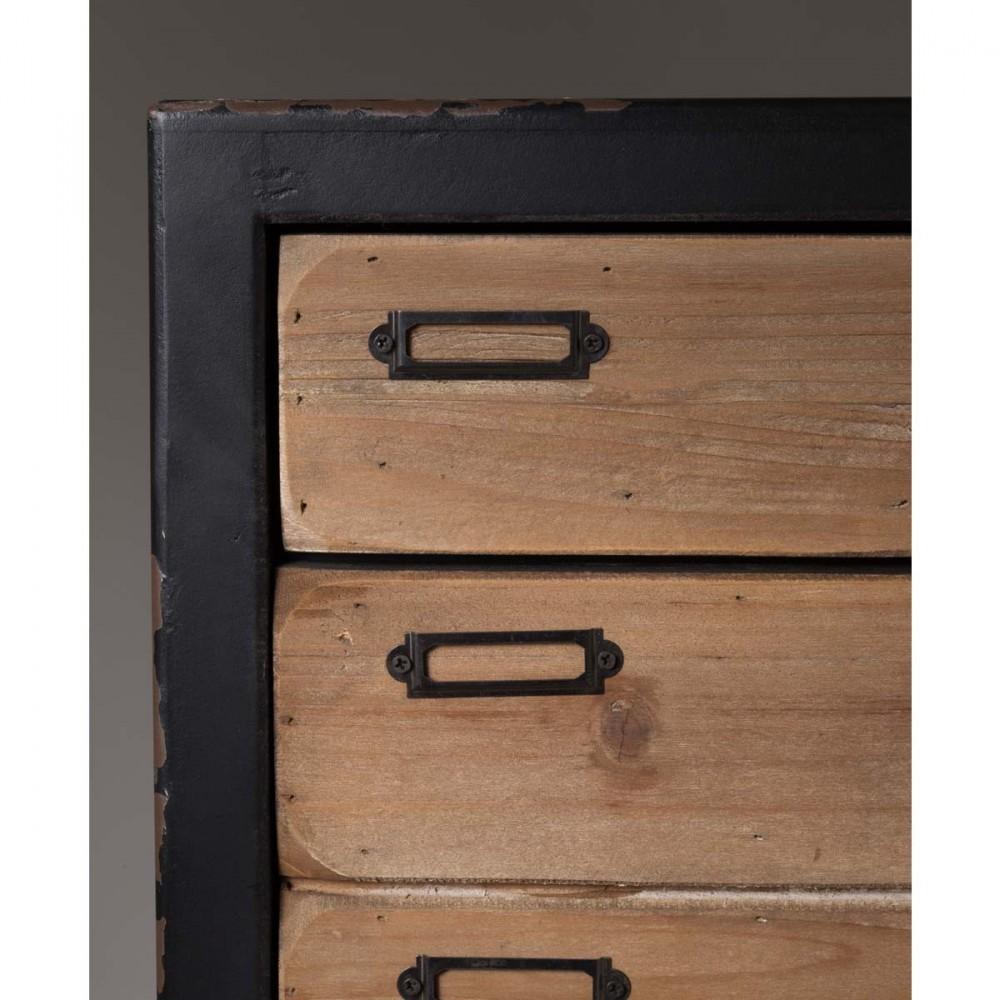 Commode vintage 4 tiroirs Sol L par Drawer.fr