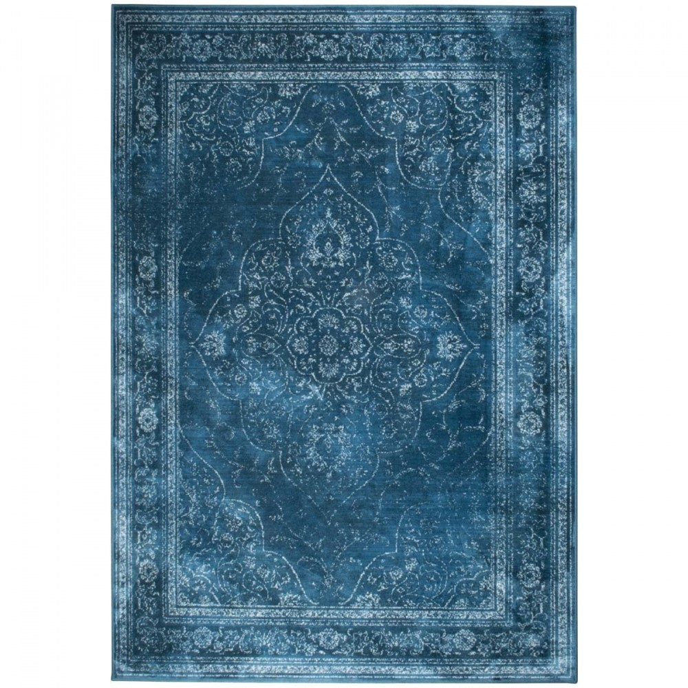 Tapis Vintage Rugged Bleu Par Drawer Fr