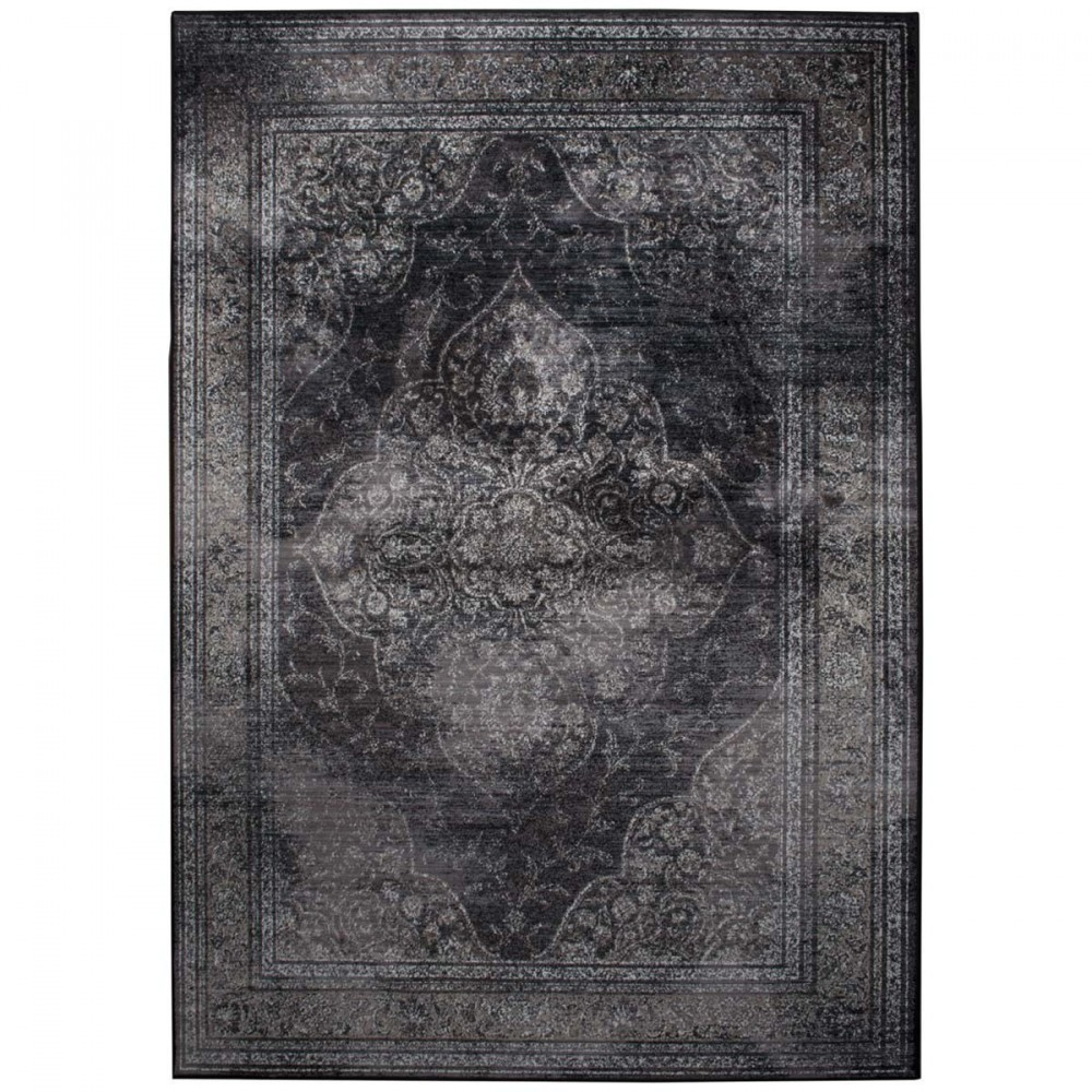 Tapis de salon iranien gris Dutchbone - RUGGED