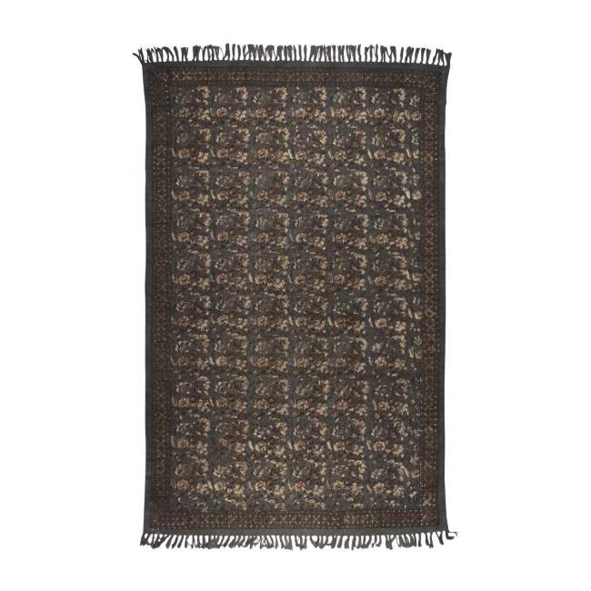 Tapis vintage Indian Block gris
