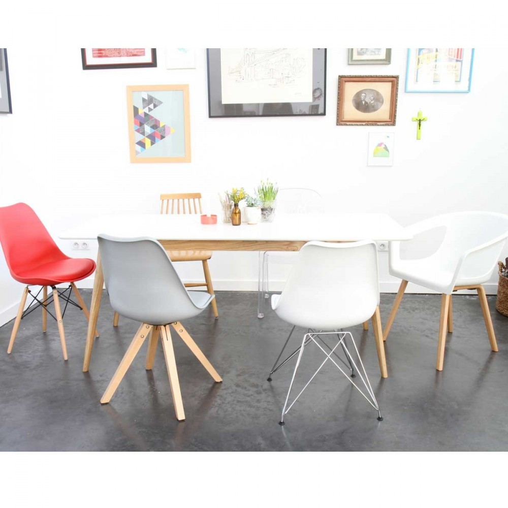 Chaise design scandinave blanche shelwood - Deco lounge epure ...