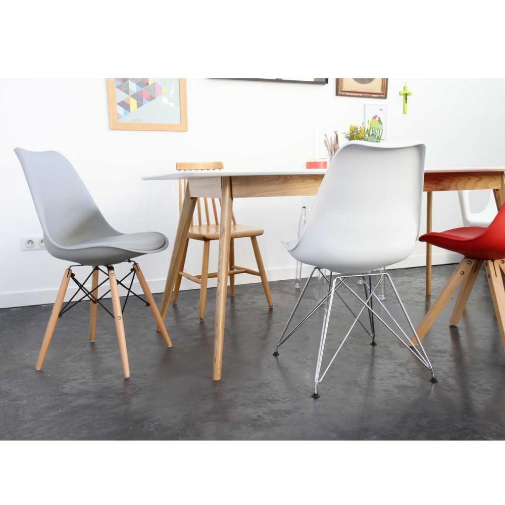 Lot de 2 chaises design ormond steelwood style dsw par - Chaises soldes design ...