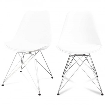 Lot de 2 chaises design Ormond Eiffel
