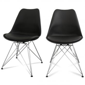 Lot de 2 chaises design Ormond Eiffel