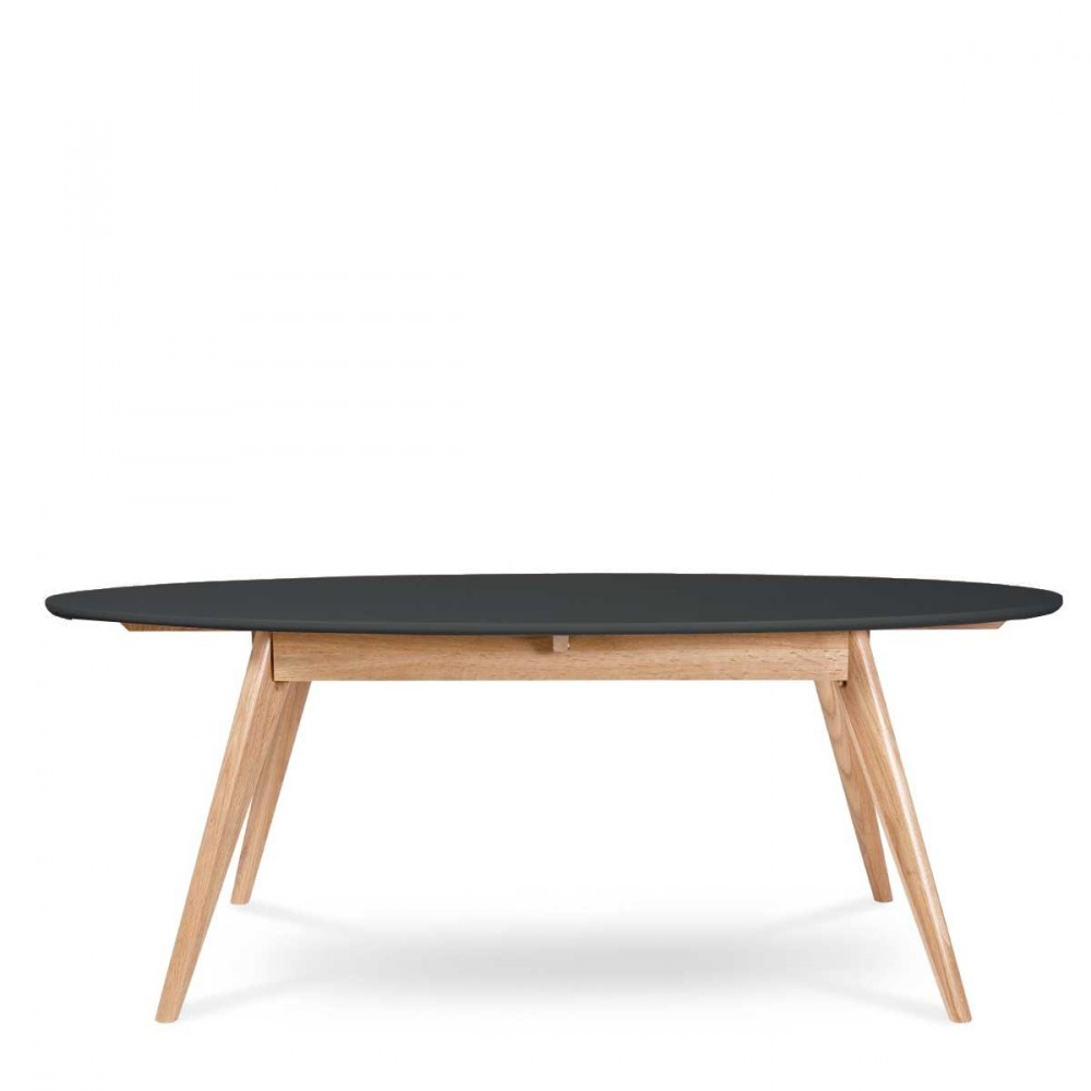 Table basse ovale en bois for Table basse design