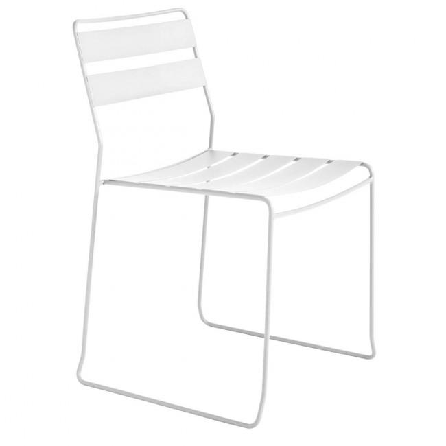 Chaise de jardin design métal Portofino blanche