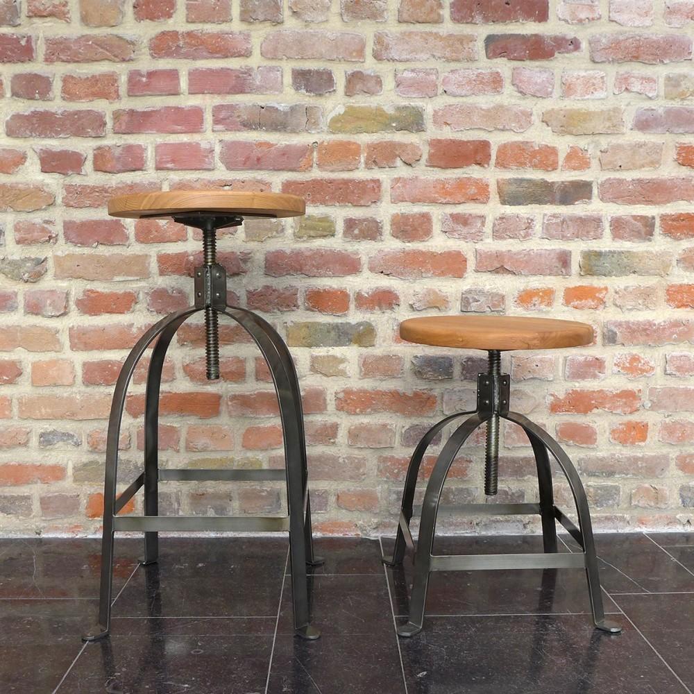 tabouret de bar industriel vis henri ford par. Black Bedroom Furniture Sets. Home Design Ideas