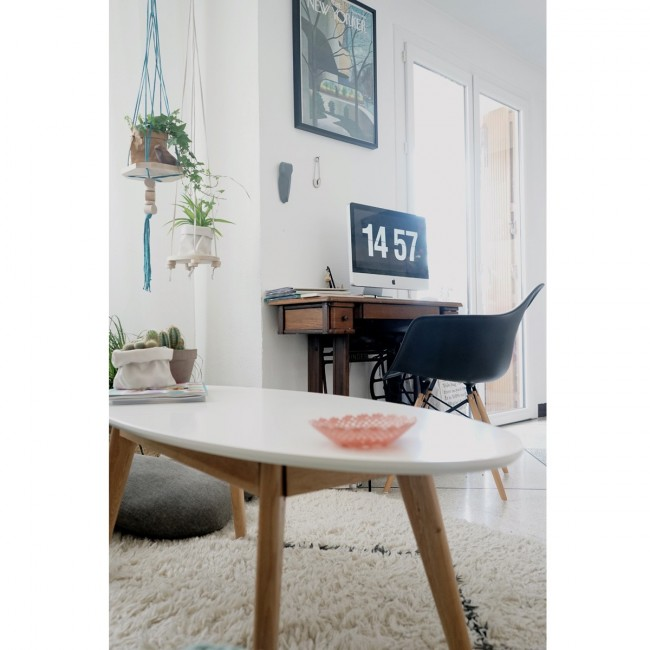 Table basse ovale design scandinave Skoll