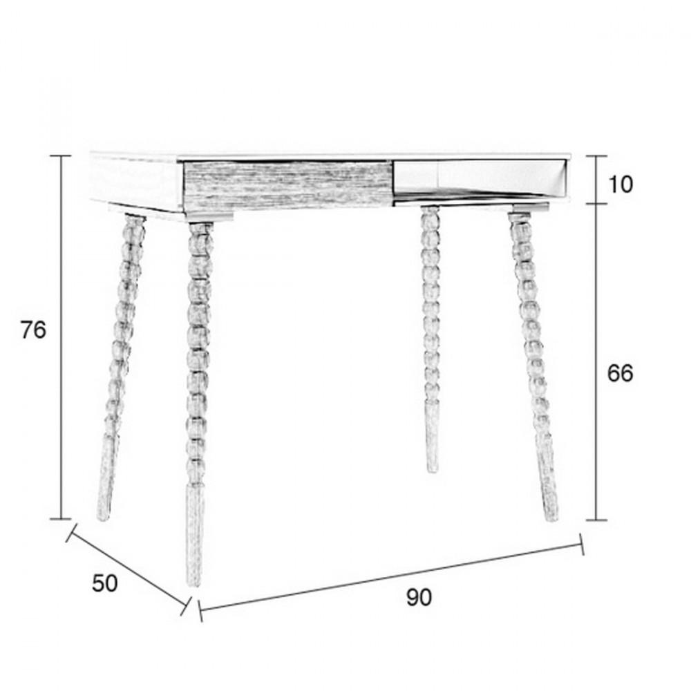 bureau scandinave twisted zuiver. Black Bedroom Furniture Sets. Home Design Ideas