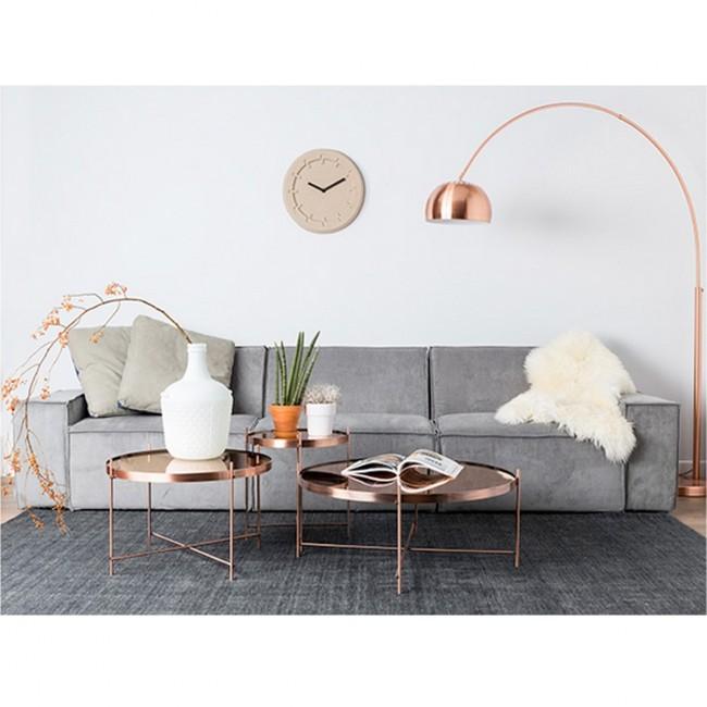 Table basse design ronde cuivre