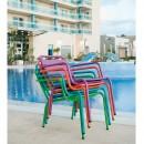 Fauteuil de jardin lounger empilable couleur Visalia