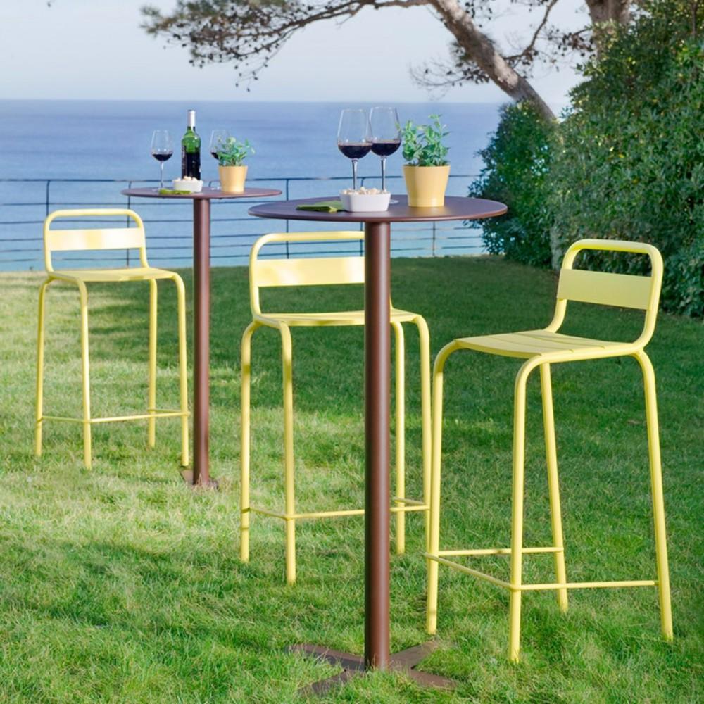 tabouret de bar outdoor visalia par drawer. Black Bedroom Furniture Sets. Home Design Ideas