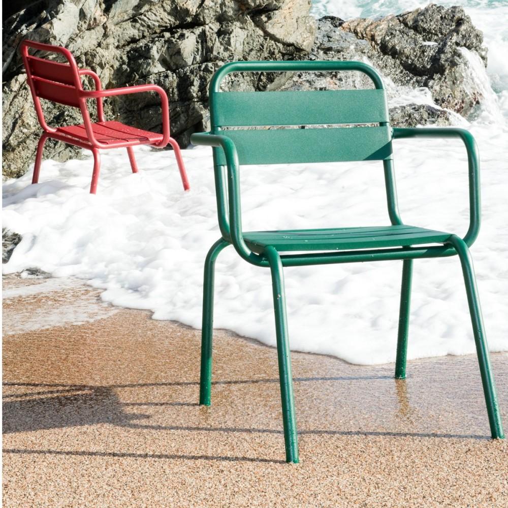 fauteuil de jardin design m tal visalia par. Black Bedroom Furniture Sets. Home Design Ideas