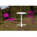 Chaise de jardin design métal Pasadena et table ambiance