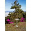 Chaise de jardin design métal Pasadena et table ambiance 2