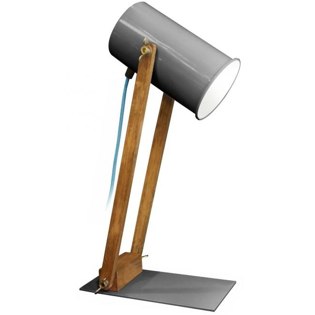 Lampe articulée bois et métal Regulus grise