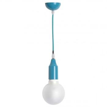 Suspension colorée douille simple Shaula bleue