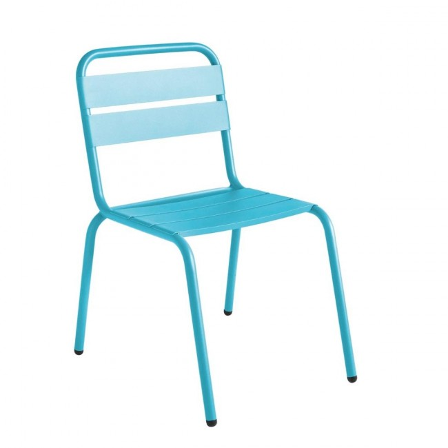 Chaise de jardin métal turquoise design Visalia