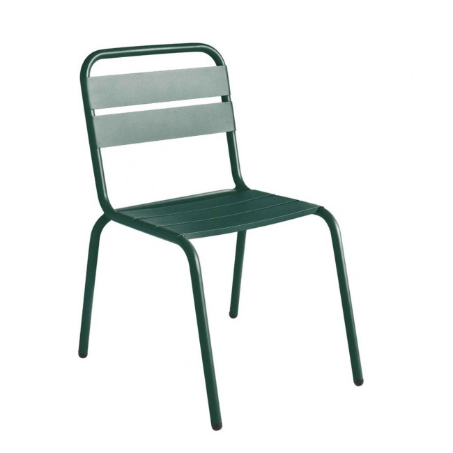Chaise de jardin métal vert mousse design Visalia