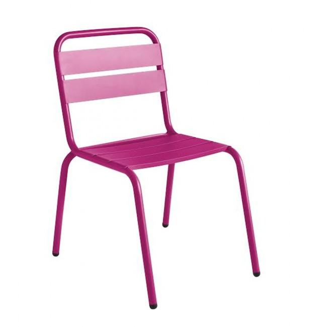 Chaise de jardin métal rose design Visalia