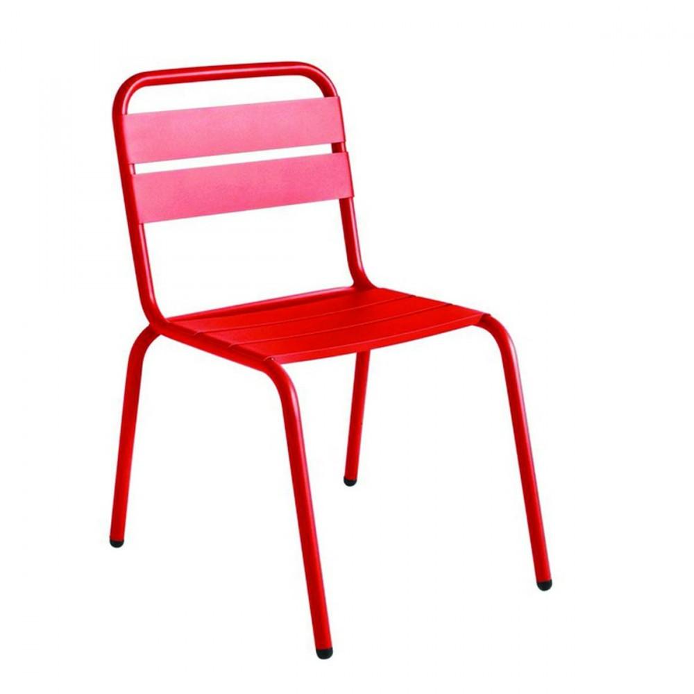 Chaise exterieur rouge table et chaise pliante exterieur | Materiaux ...