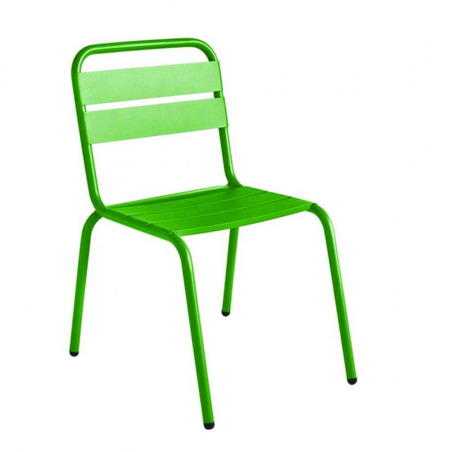 Chaise de jardin métal vert design Visalia