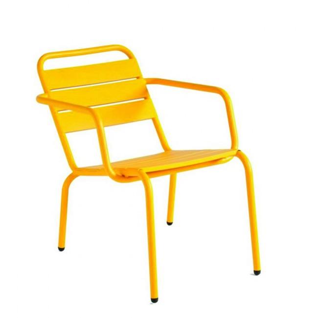 Fauteuil lounger de jardin Visalia jaune moutarde