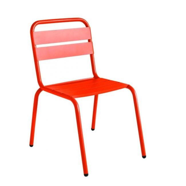 Chaise de jardin métal orange design Visalia