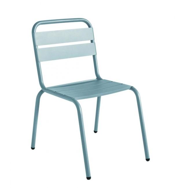 Chaise de jardin métal design Visalia gris