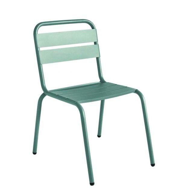 Chaise de jardin métal design Visalia gris anthracite
