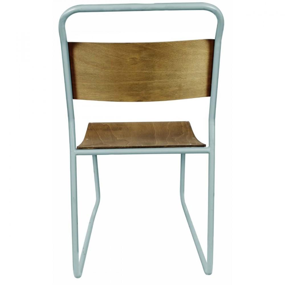 Chaise vintage bois et m tal avior par drawer - Chaise metal et bois ...