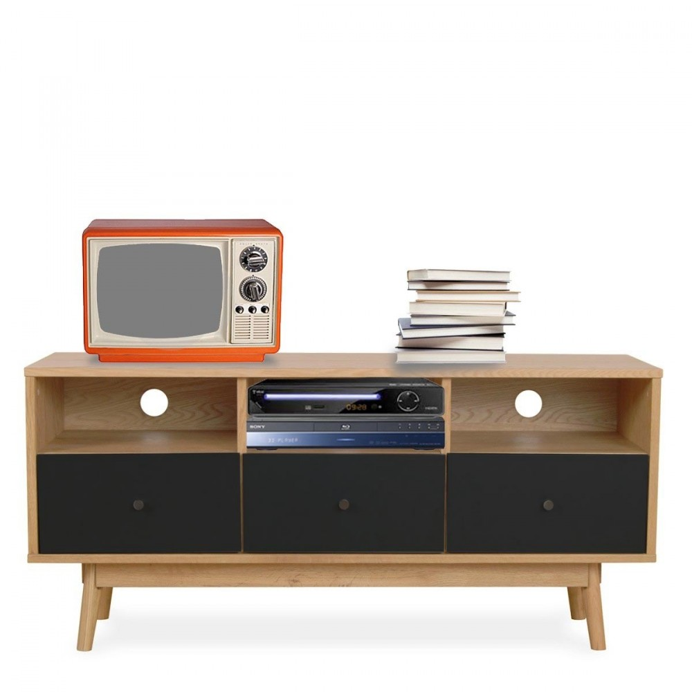 Meuble tv scandinave skoll by drawer for Design meuble