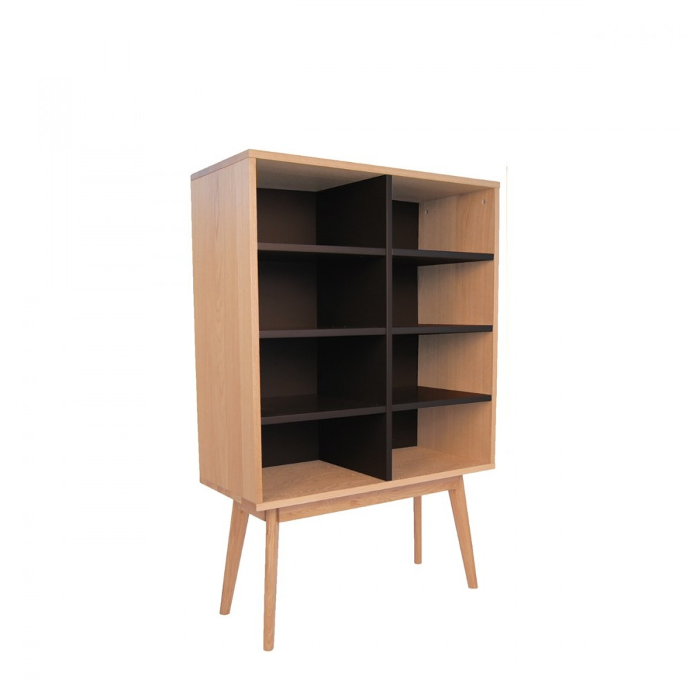 biblioth que scandinave en bois 8 niches skoll by. Black Bedroom Furniture Sets. Home Design Ideas