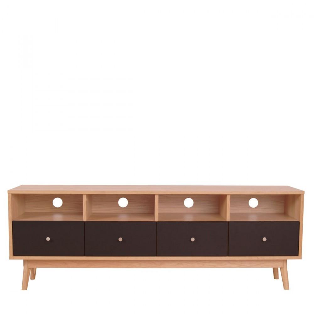 meuble tv 4 tiroirs skoll style scandinave by drawer. Black Bedroom Furniture Sets. Home Design Ideas