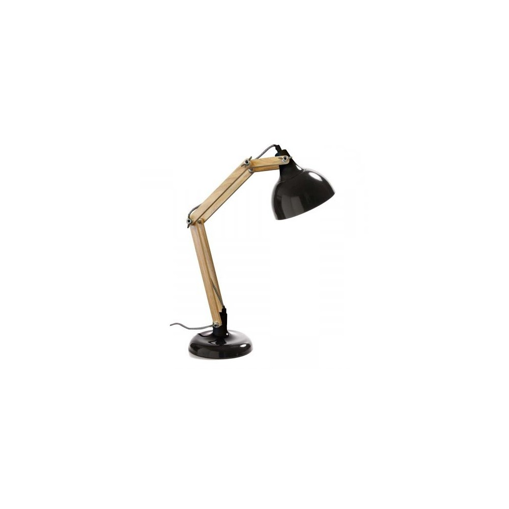 lampe de bureau articul e m tal bois hadar par. Black Bedroom Furniture Sets. Home Design Ideas