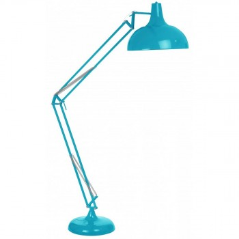 Lampadaire design géant architecte Capella turquoise