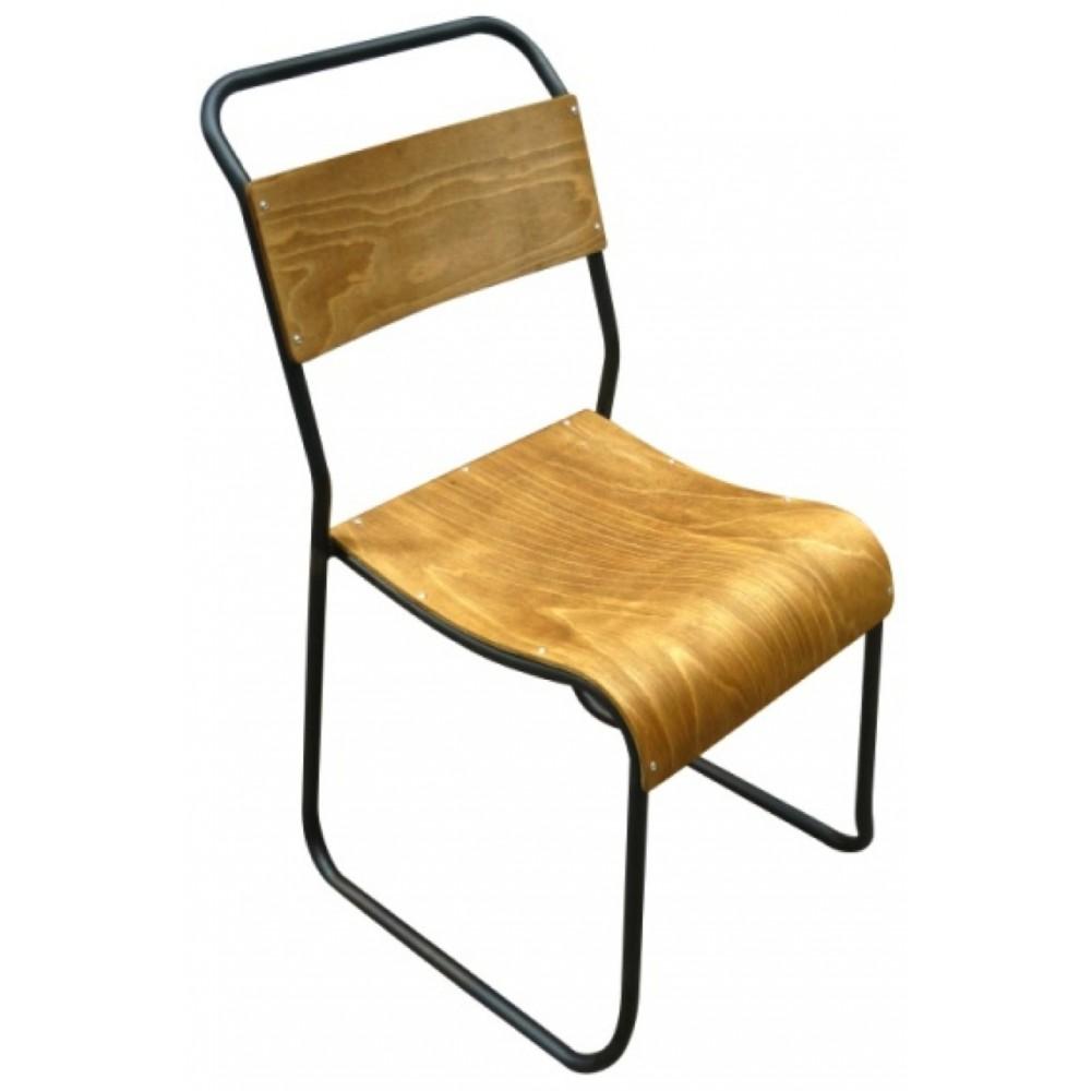 chaise vintage bois et m tal avior par drawer. Black Bedroom Furniture Sets. Home Design Ideas