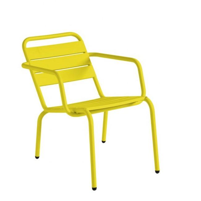 Fauteuil lounger de jardin Visalia jaune citron