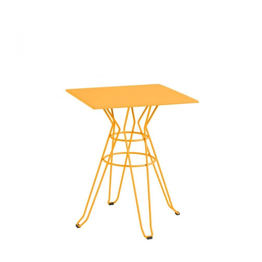 Table de jardin carr e design alameda 60x60 par drawer for Table exterieur 60x60